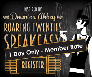 Inspired by Downton Abbey Roaring Twenties Speakeasy Register