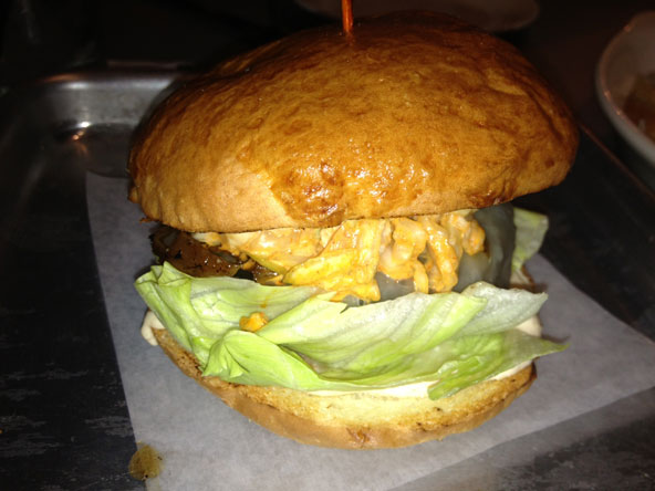 The veggie burger at Philco. Photo by Rich Terapak Jr.