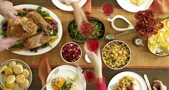 Thanksgiving dinner in motion. Photo: Satya Murthy/Flickr