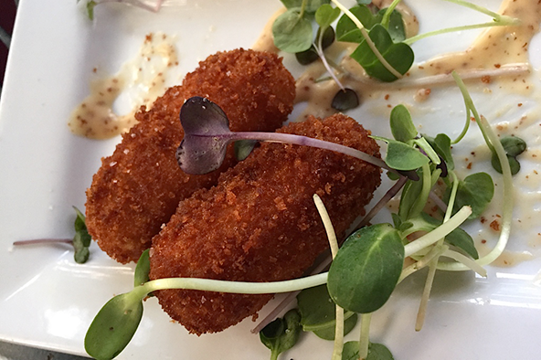 Barcelona's croquetas, which are Spanish fritters studded with ham and Manchego cheese. Photo: Steve Stover