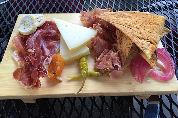 Barcelona's legendary jamon Iberico and Serrano, chorizo, and lomo, dry cured pork loin. Photo: Steve Stover