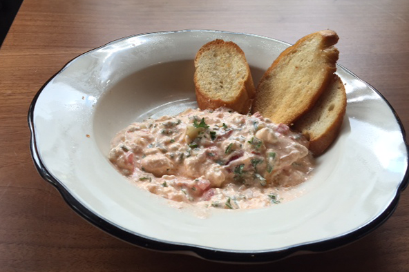 The Shankleesh is a Lebanese spread with feta and tomato on crostini served at the Crest. Photo: Steve Stover