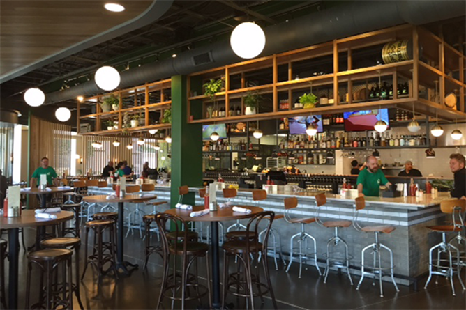 The interior of The Crest's second location on Parsons Avenue. Photo: Steve Stover