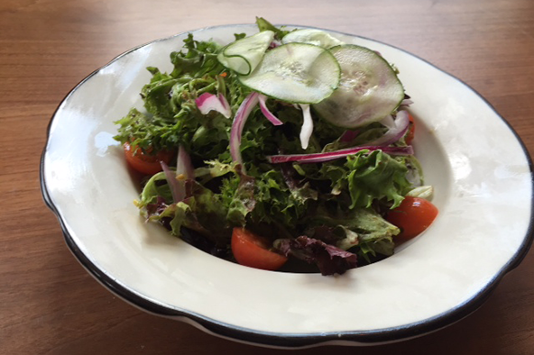 The side salad at the Crest's new location on Parson Avenue. Photo: Steve Stover