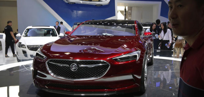 A Buick Avista concept car is exhibited in Beijing in April. Buick, which sells a large percentage of its cars in China, is No. 3 in Consumer Reports' latest reliability rankings. ANDY WONG / AP