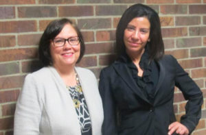 Denise St. Claire & Judith Goldstein with Columbus Area Mentoring Program. DEBBIE HOLMES