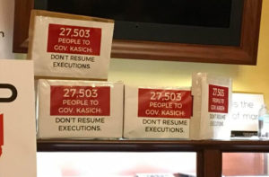 Petitions that were delivered to Governor Kasich
