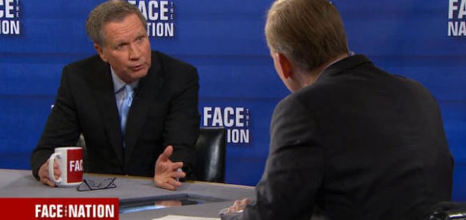 Ohio Gov. John Kasich on Face The Nation, Feb. 26, 2017.