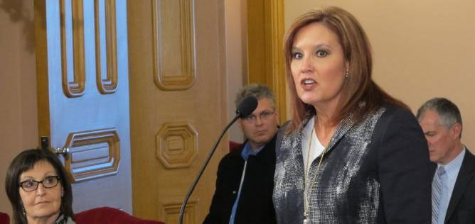 Lt. Gov. Mary Taylor says the state's economy would be struggling if there were sanctions on fracking.