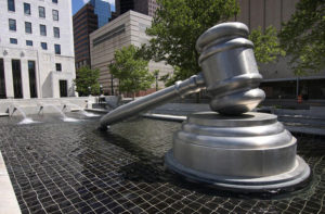 Giant gavel outside the Ohio Supreme Court. Flickr: Creative Commons.