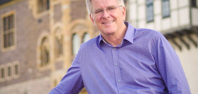 Rick Steves at the Wartburg Castle in Germany.