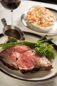 The Top Steakhouse's Prime Rib. Photo: Jodi Miller Photography.