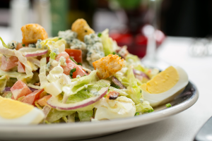 The classic House Salad with Italian dressing at The Top Steakhouse. Photo: Jodi Miller Photography.