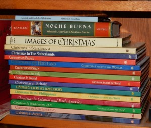 Stack of Christmas books