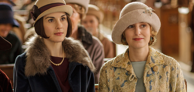 "Lady Mary and Lady Edith on Masterpiece's ""Downton Abbey, The Final Season."" Photo: Courtesy of Nick Briggs/Carnival Film & Television"