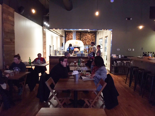 The interior of the new Paulie Gee's pizzeria in the Short North where pizza are available for dine-in only.