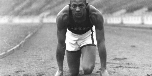 Jesse Owens while competing at Ohio State.