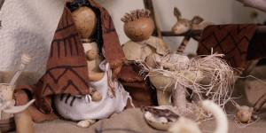 The Nativity story told through gourds