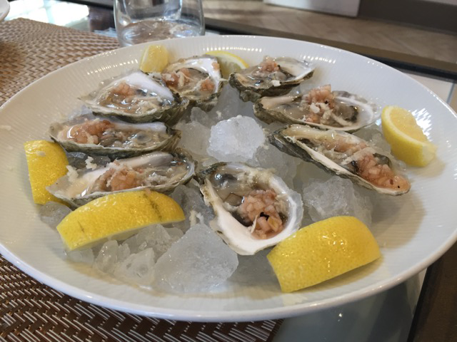 The starters at Trentina include eight oysters on the half shell.