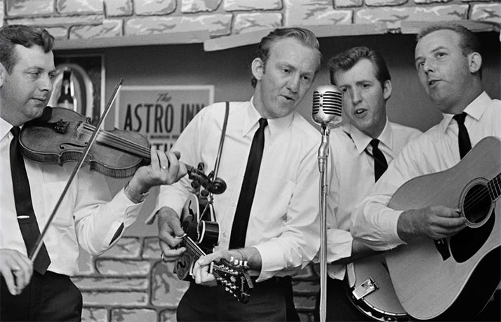 bluegrass band playing at the Astro Inn in Columbus, Ohio.