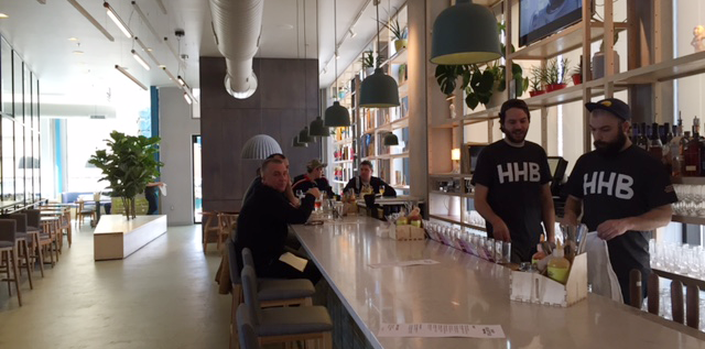 The bar at Hoof Hearted Brew Pub and Kitchen in Columbus' Italian Village.