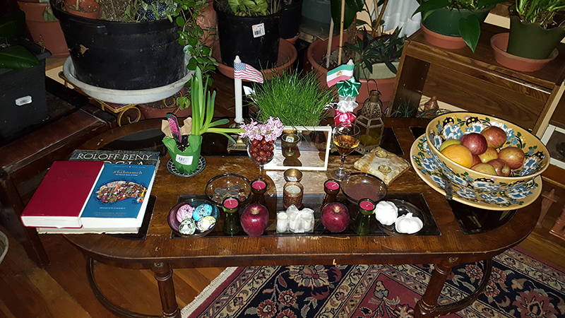 An Iranian New Year's Table is also known as the Seven S Table