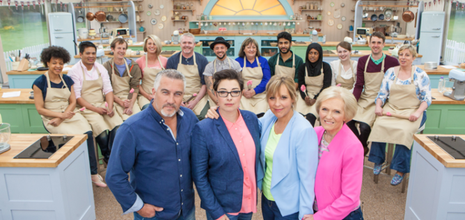 The judges, hosts, and contestants of The Great British Baking Show, Season 3.