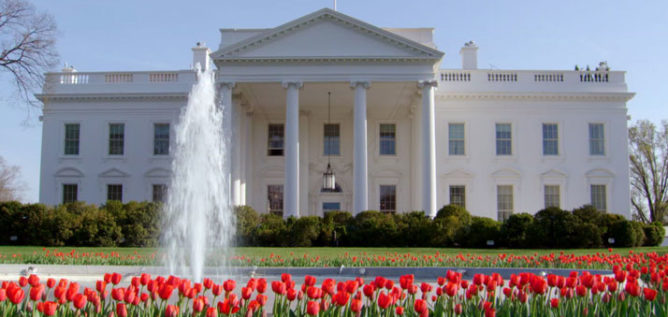 Exterior shot of the fountain in front of White House. Photo: Partisan Pictures