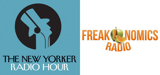 The New Yorker Radio Hour and Freakonomics Radio logos