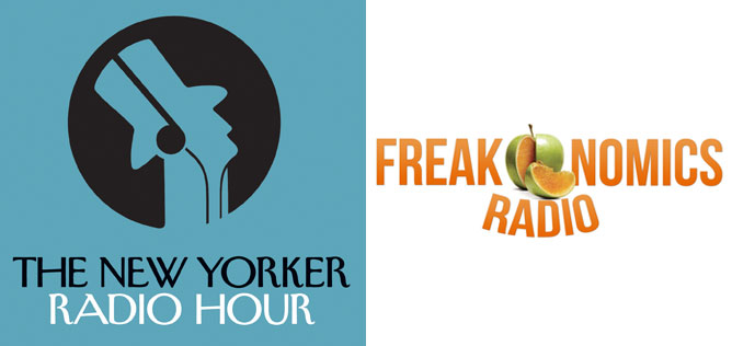 The New Yorker Radio Hour and Freakonomics Radio logos