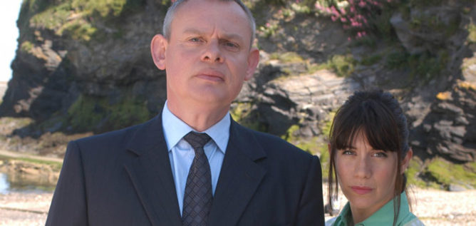 Doc & Louisa, Martin Clunes and Caroline Catz, in Doc Martin Season Two.