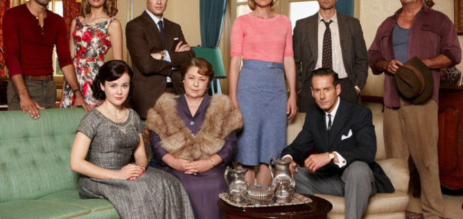 The cast of A Place To Call Home Season 1.