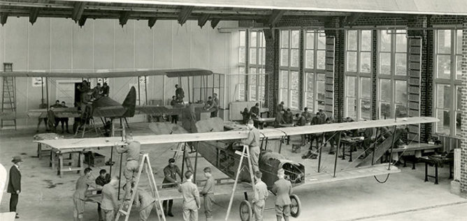 The 1918 Aviation hanger would become the home of WOSU Radio.