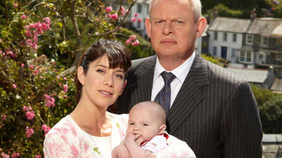 Dr. Martin Ellingham and local schoolteacher Louisa Glasson adjust to life as new parents in Doc Martin season 5.