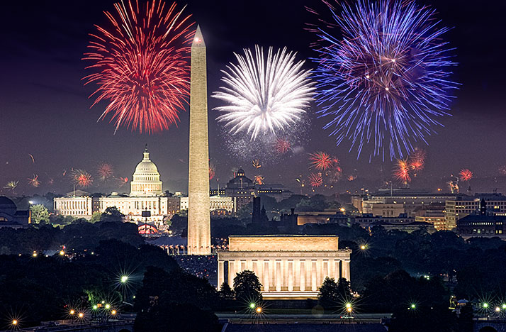 Watch fireworks in Washington D.C., on a Capitol Fourth Tuesday at 8pm on WOSU TV.