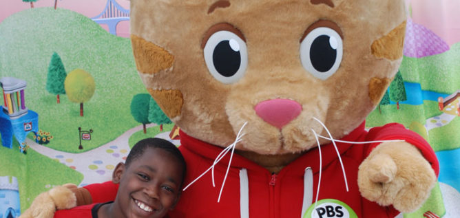 "Daniel Tiger at ""Daniel Tiger's Be My Neighbor Day"" at the south side of Columbus on June 17."