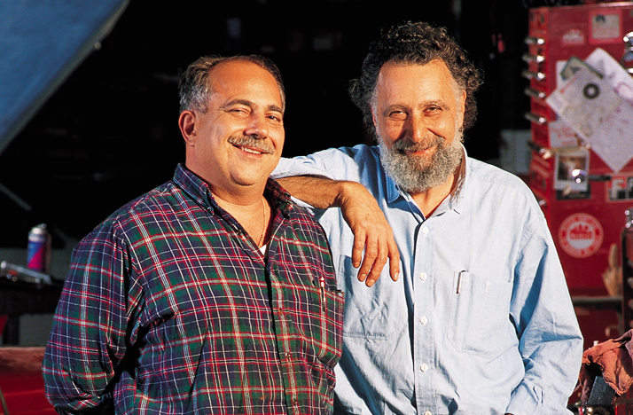 """Ray Magliozzi, left, and his brother, the late Tom Magliozzi, hosts of NPR's """"Car Talk."""""""
