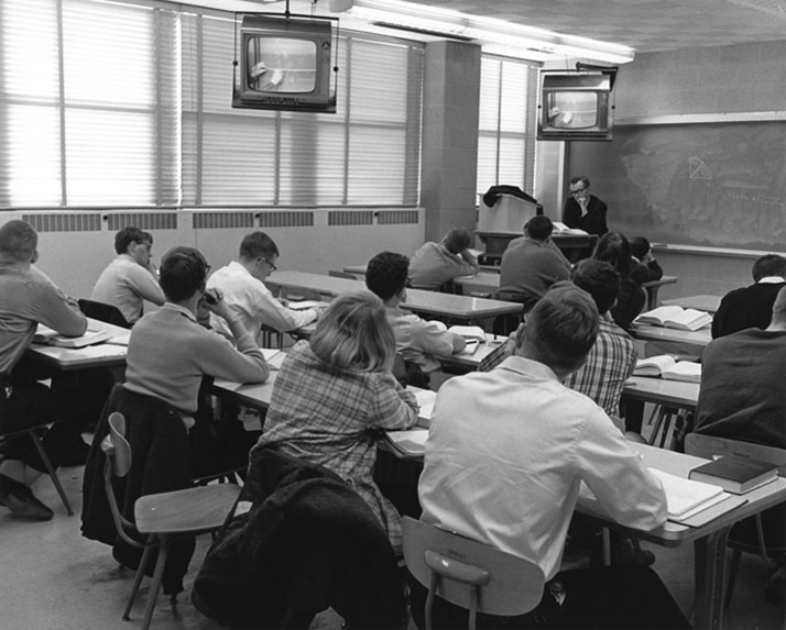 The Public Broadcasting  Act of 1967 led to education television in the classroom.