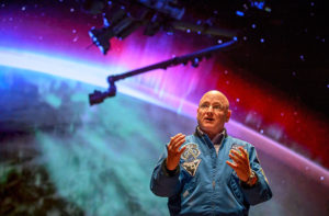 Former NASA astronaut Scott Kelly speaks about his historic mission aboard the International Space Station during an event at the United States Capitol Visitor Center, Wednesday, May 25, 2016, in Washington.
