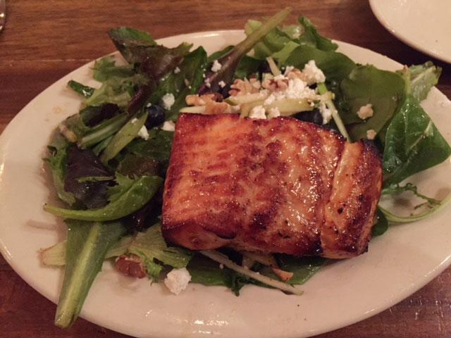 The harvest salmon salad at Napa Kitchen + Bar.