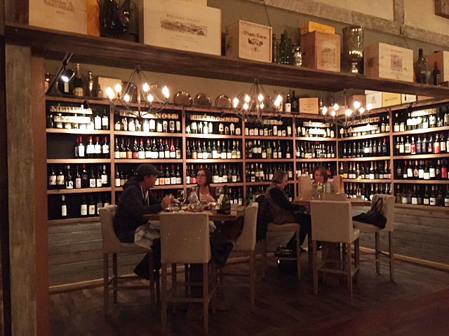 Bottles of wine available for purchase at Napa Kitchen + Bar.