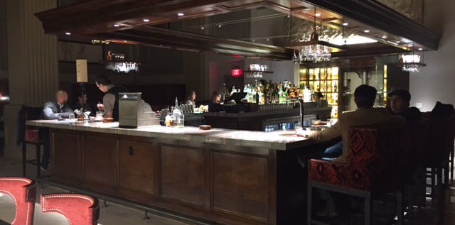 The Veritas upstairs bar is in the former Citizens Bank lobby in downtown Columbus.