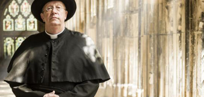 Mark Williams as Father Brown in season six of Father Brown.