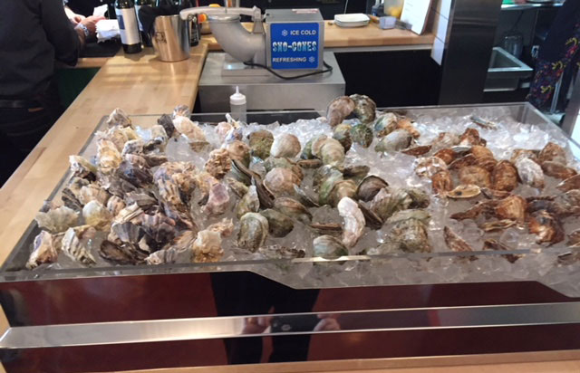 Lupo features an oyster bar. Photo: Steve Stover