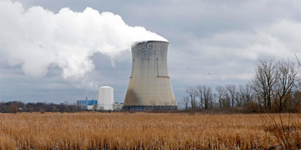 The Davis-Besse Nuclear Power Station on Lake Erie is scheduled to shut down in 2020. Ron Schwane / Associated Press