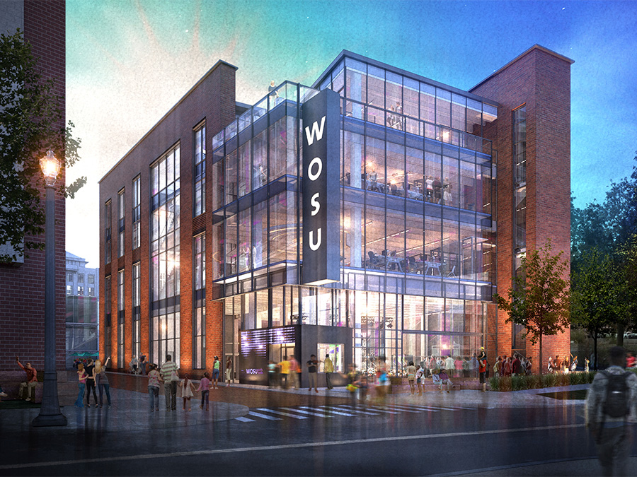 Artist rendering of new WOSU building