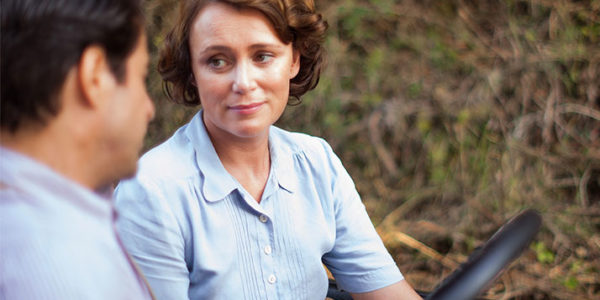 Keeley Hawes as Louisa Durrell in the Durrells in Corfu.