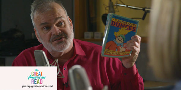 WOSU's Christopher Purdy holds up his favorite book.