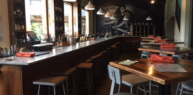 The bar at Strongwater Food & Spirits in Franklinton. Photo: Steve Stover