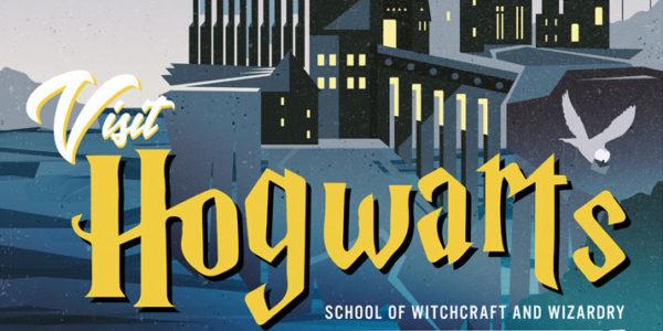Visit Hogwarts poster